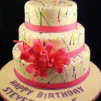 Artful Splater Cake This cake was done for a 15th Birthday. The birthday girl wanted something that reflected her personality and her love for art but also did...