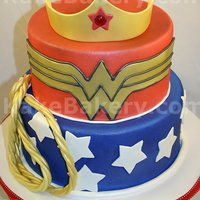 Wonder Woman Birthday Cake This cake was done for a super friends fan specifically Wonder Woman. Why there has not been a movie made about her yet is beyond me.