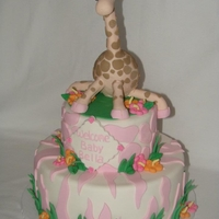 Baby Giraffe Shower Cake