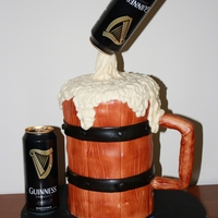 Guinness Cake Mug of Guinness beer.... cake is Guinness chocolate cake with Jameson's Irish Whiskey chocolate ganache filling and Baileys Irish...