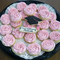 Graduation Roses Platter I needed a quick platter of cookies for my daughter's class for their student intern. I had just seen the really cute rosette cookies...