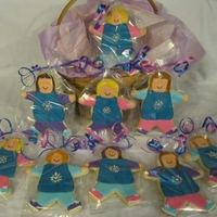 Daisy Scouts! Cookies for my daughter's final daisy meeting, she's a brownie now!