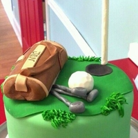Golf Themed Cake