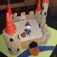 Mike The Knight Castle Cake Cbeebies Mike the Knight Castle Cake for my son's 4th Birthday. (Mummy you forgot the tree... and I'm missing a square tower and...