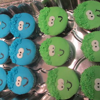 Puffle Cupcakes Puffle cupcakes for a coworker.