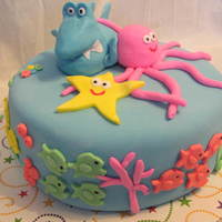 Under The Sea Birthday An under the sea friends cake