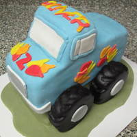 Monster Truck Cake A monster truck cake for a 2 year old.