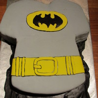 Batman Cake A batman shirt cake for a 4th birthday