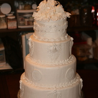 Traditional White Wedding Cake Love a back to basics request for a traditional wedding cake. Cake is covered with fondant and decorated with fondant and gum paste. All...