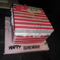 Lizzi's Box victorias secret box cake.