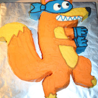 Swiper This cake was for my daughter's 2nd birthday. She loves Dora the Explorer and wanted a Swiper cake. The cake is the chocolate version...