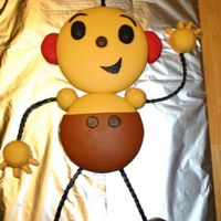 Rolie Polie Olie This is my first attempt at a fondant cake. I made the marshmallow fondant and just used a boxed mix for the cake (one new project at a...