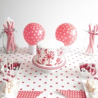 Dessert Table Red And White Polkadot