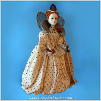 "Queen Elizabeth I Cake - The Queen Made Of Sugar Queen Elizabeth I made of sugar. 28 cm (11"") tall."
