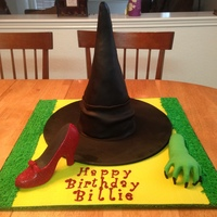 Wizard Of Oz Ruby Slipper Witches Hat And Green Witch Hand Cake Wizard of oz ruby slipper, witches hat ,and green witch hand cake