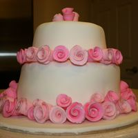 Sweet Roses Modeled after the invitations to the shower. First tiered cake!