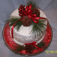 Pinecone Christmas Cake Made this cake for my family for Christmas Day. Eight inch chocolate cake, torted and filled with peppermint flavored Bettercreme with...