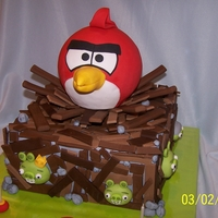 Angry Bird Cake My grandson Ryan wanted an Angry Bird cake for his 9th birthday and I found the perfect one on CC made by Jenn from ittybittybakery. I...