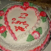 Valentines First cake done at 3 weeks of class