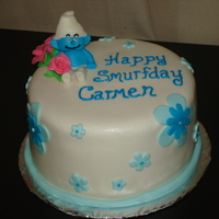 Smurf Birthday I made this cake for my nieces birthday!!!