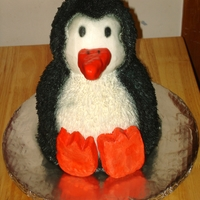 Penguin Cake My son has a stuffed penguin that he absolutely loves, so I decided to make a replica out of cake!!!