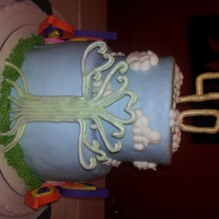 """a Few Of My Favorite Things"" - Tree Of Life Cake  This very personalized birthday cake was made for a very special friend who loves clouds, the Tree of Life design, and the bright colors of..."