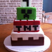 Minecraft Cake Minecraft cake for a 9th birthday.