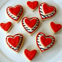 Stacked Heart Cookies Stacked heart cookies