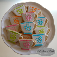 Tea Cup Cookies Made To Match The Tea Cups Being Used At The Party Tea cup cookies made to match the tea cups being used at the party