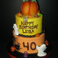Buttercream Cakes Pumpkin Is Styrofroam Covered With Fondant Buttercream cakes, pumpkin is styrofroam covered with fondant.