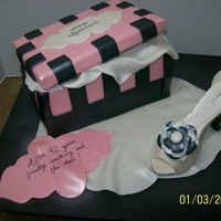 My First Shoe Cake Carrot Cake With Crusting Cream Cheese Icing Covered With Mmf The Shoe Is Made From Gumpaste With A Template But I Ha My First Shoe cake!! Carrot cake with Crusting Cream Cheese icing covered with MMF. The shoe is made from gumpaste with a template; but I...