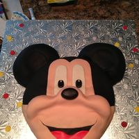 Mickey Mouse Mickey Mouse covered in buttercream icing and MMF.