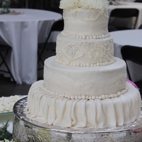 Wedding Cake Buttercream and fondant