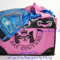 Juicy Coutour With True Religion Jeans Juicy Coutour Tote with True Religion Jeans on top,,,