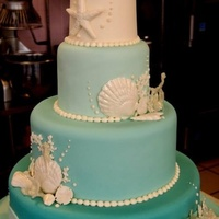 All Fondant Amp Gum Paste With Isomalt Coral And Seahorses   All fondant & gum paste with isomalt coral and seahorses!