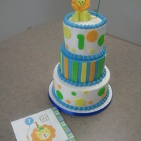 Lion First Birthday Buttercream with MMF decor.
