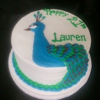 Buttercream Peacock
