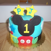 "Mickey's Clubhouse 6"" cake for 1st birthday"