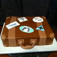Vintage Luggage This cake was made for the home coming of a premature baby. Mom wanted the stickers to recognize the hospital the baby stayed in for over 6...