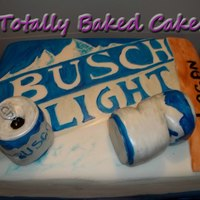Busch Light Cake 54 servings of chocolate cake. SO heavey!