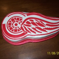 Red Wings I made this for a friends birthday. He is from Michigan and a huge red wings fan.