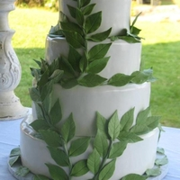 Leaf Wedding Cake I made this for my sisters wedding. it was a remote wedding so I did not have the luxury of making this in my kitchen. it was a challenge...