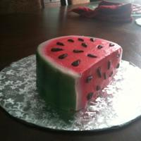 Watermelon Smash Cake Did this for my friends daughters first birthday