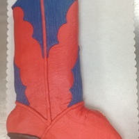 Cowboy Boot Cupcake Cake cowboy boot made with24 cupcakes and buttercream icing