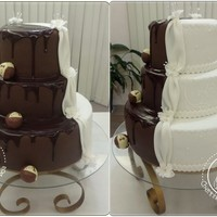 Wedding Chocolate And White Cake
