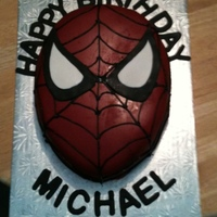 Spiderman Spiderman cake covered in fondant.
