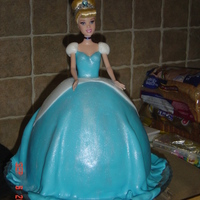 Cinderella I made this for my daughter 4th covered in fondant with simmer dust.