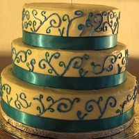 Swirl Wedding Cake carrot cake w/ cream cheese frosting for a friends' wedding reception