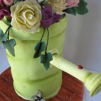 Flower Bouquet Watering Can Special 95Th Cake