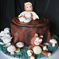 Baby Shower Forest Friends This is a tree stump Forest friends cake made for a co workers baby shower. The cake was Graham WASC with chocolated ganache and toasted...